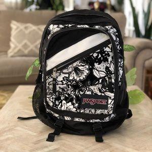 Jansport Black Velvet Flower Student Backpack